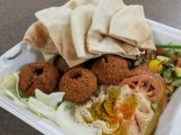 A falafel plate, with pita bread, hummus and greens, is one of the items on the menu at Yalla Yalla bakery in Citrus Heights. // CH Sentinel