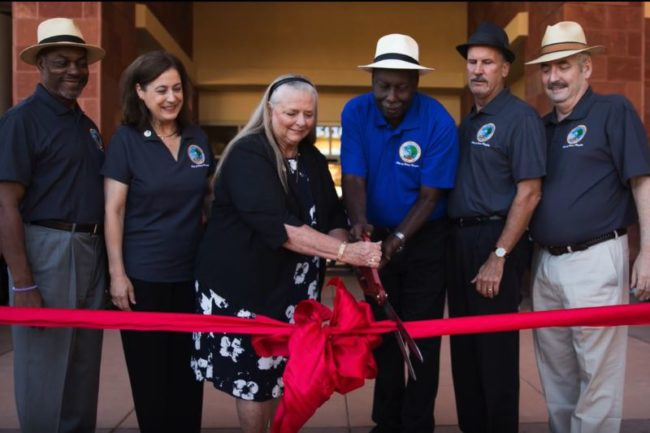 From 2016, City Council members along with Henry Tingle join together for a ribbon-cutting ceremony at the new City Hall. // Photo credit: City of Citrus Heights