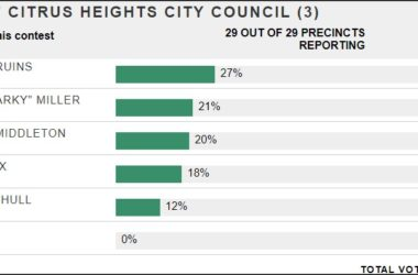 Vote results, Citrus Heights City Council 2018