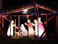 A manger scene outside Celtic Cross Presbyterian Church in Citrus Heights. // CH Sentinel