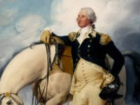 Painting, Washington at Verplancks Point, by John Trumbull. // Public domain.