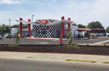 Rally's burger drive-thru